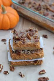 Pumpkin Pie With Pecan Streusel Topping by Pumpkin Pie Bars Whats Cooking Love