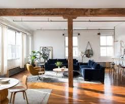 Medium Size Rustic Industrial Living Room Design