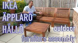 Strandmon Wing Chair Assembly by Ikea Outdoor Furniture Youtube