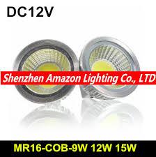 10pcs power cob led mr16 12v dimmable 9w 12w 15w spot light