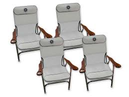 100 Marine Folding Deck Chairs Premium Aluminum Deck Chairs With Cup Holder Aluminum White