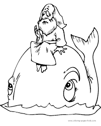 Jonah And The Whale Color Page More Free Printable Religious Coloring