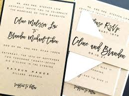 Elegant Belly Bands For Wedding Invitations Invitation Invite Rustic