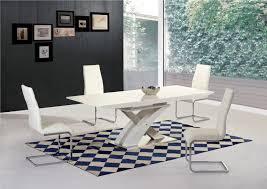 100 White Gloss Extending Dining Table And Chairs H Glass 8