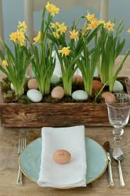 Spring Or Easter Table Setting Egg As A Placecard And Centerpiece