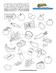 Printable Healthy Eating Chart Coloring Pages Happiness Is Within Food