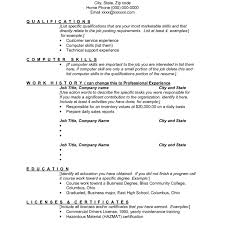 Qualification Resume Sample Cover Letter Skill Based Examples In Qualifications Skills Q Large Size