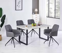 1er sessel esszimmerstuhl relaxstuhl mit rückenlehne grau kunstleder drehbar