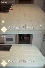 before after regrouting tile countertop diys craft cool ideas