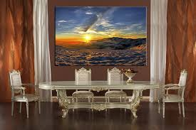 Canvas Wall Art For Dining Room by 1 Piece Canvas Blue Artwork Landscape Wall Decor Canvas Prints