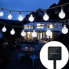 lalapao 2 pack globe string lights solar powered