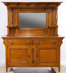 lot 106 tiger oak dresser with mirror having a framed beveled