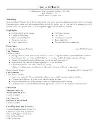 Resume For Social Work Case Worker With No Experience Here Are Sample