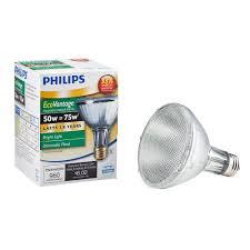 philips 75w equivalent halogen par30l indoor outdoor dimmable