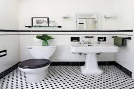 small black and white floor tiles bathroom tile and wall color