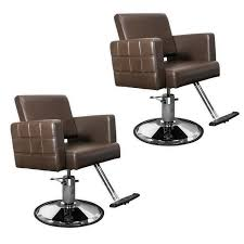 Beauty Salon Chairs Ebay by Quilted Brown Havana Hair Salon Stylist Chair Two 2 Chair Package