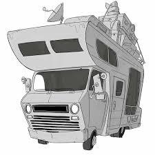 Sketch Doodle RV Winnebago
