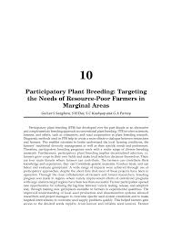 bred si e social participatory plant targeting pdf available