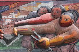mural de david alfaro siqueiros el edificio tecpan aloja a flickr