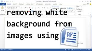How To Remove White Background From Images Microsoft Word YouTube