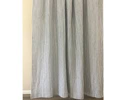 Blue Vertical Striped Curtains by Striped Curtains Etsy
