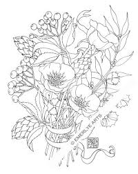 Poppy Love An Adult Coloring Page By Cynthia Emerlye Available As A Digital Download