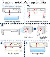 leuchtstoffröhren durch led röhren ersetzen wie