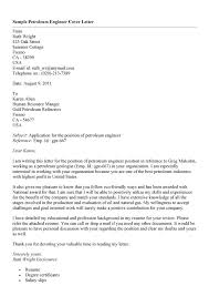 Cover Letter for Petroleum Engineer with No Experience