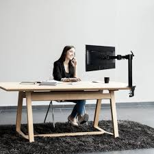 Monitor Stands For Desk by M13 Dual Arm Monitor Desk Mount For 10 U2033 27 U2033 U2013 Fleximounts