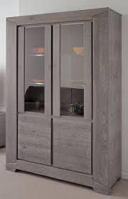 vitrine highboard eiche grau 126x188x44cm esszimmerschrank