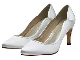 lucy white satin court wedding shoes
