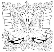 Free Butterfly Adult Coloring Book For Stress Relief