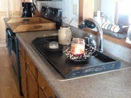 Primitive Kitchen Countertop Ideas by Best 25 Kitchen Tray Ideas On Pinterest Kitchen Styling