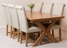 Breathtaking Vermont Extending Oak Dining Table With 6 Black Lola Chairs