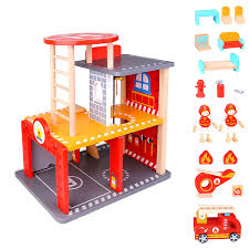 FUNERICA Toy Fire Truck With Lights And Sounds - Extendable Ladder ...