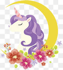 Crescent Flowers Adorn The Unicorn Vector Png A Beautiful PNG And