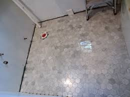 Mapei Porcelain Tile Mortar by Marble Hexagon With Mapei Silver Grout Kitchen Renovation Ideas