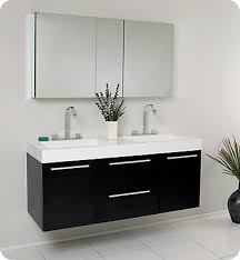 48 Inch Double Sink Vanity Canada by Fresca Opulento 54 1 4 Inch W Double Sink Vanity In Black Finish