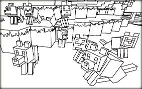 Minecraft Coloring Pages Astounding Free On Line Drawings With