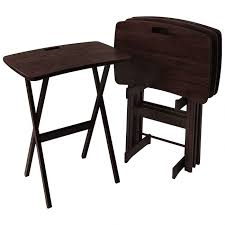 solid wood folding tv tray tables portable work desks