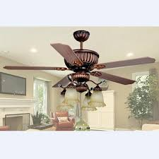2018 Ceiling Fan European Retro Glass Wood Light Dining Room Pendant Remote Control L 1320mm H 600mm From Soon 37267