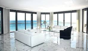 Marble Floor Tiles Living Room With A White Polished And Beautiful Sea View
