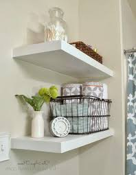 Shabby Chic White Bathroom Vanity by Creative Bathroom Storage Ideas Two White Drop In Sinks Wall
