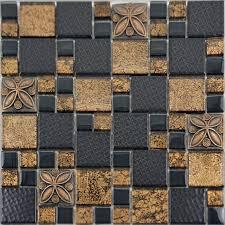 porcelain mosaic tile designs gold glass tiles bathroom wall