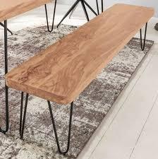 esszimmer sitzbank bagli massiv holz akazie 120 x 45 x 40 cm holz bank natur produkt küchenbank im landhaus stil möbel und schönes