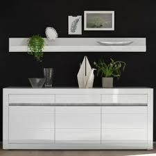 details zu sideboard wandregal möbel set anrichte wohnzimmer flur diele in weiß hochglanz