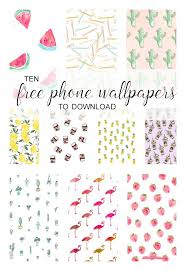 Collage Of Cute IPhone Wallpapers To Download For Free