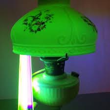 Antique Aladdin Electric Lamps by Antique Vtg Aladdin Drape Uranium Vaseline 10 Shade Oil Electric