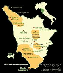 Tuscany Historic Territories Map