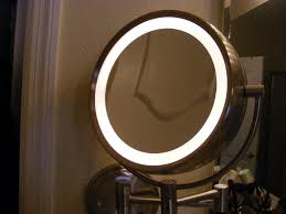 lights lighted makeup mirror light wall mounted magnifying in